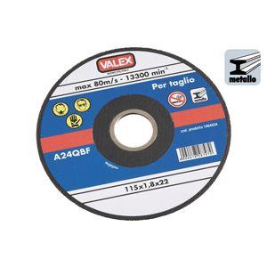 DISCO ABRASIVO FINE PER TAGLIO METALLI 115/22/1,8 mm