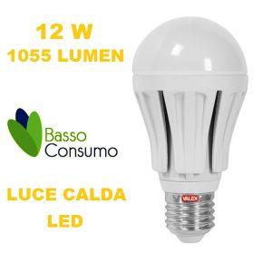 LAMPADINA A LED GLOBO ATTACCO E27 LUCE CALDA 12W 1055 LUMEN