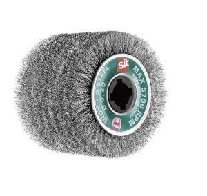SPAZZOLA A RULLO IN ACCIAIO INOX Ø 100x70x19 mm