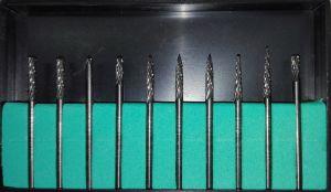 SERIE DA 10 FRESE AL CARBURO DI TUNGSTENO Ø 2,35 x 2,35 mm PER TRAPANO DREMEL, PROXXON E MINI SMERIGLIATRICE