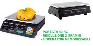 BILANCIA ELETTRONICA DIGITALE PORTATA 40 Kg / 2 g