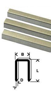 PUNTI METALLICI ZINCATI 10,8x22 mm - 5000 PEZZI