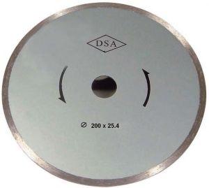 DISCO DIAMANTATO A CORONA CONTINUA Ø 200 mm FORO 25,4 mm